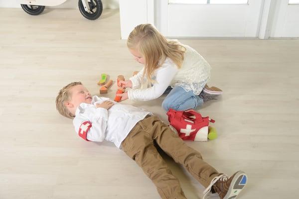 children playing paramedic