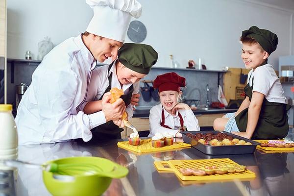 Children Learning How to Bake